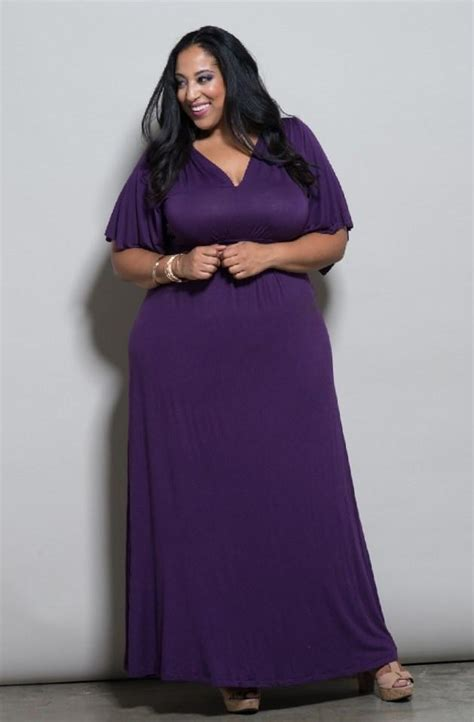 Dress Maxi Purple Elegan purple maxi dress plus size pluslook eu collection