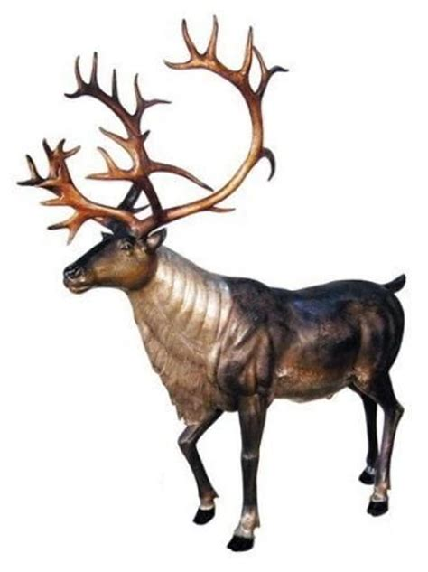 fiberglass 12 reindeer 59 best size statuary images on effigy statues and bronze sculpture