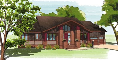the suburban craftsman 9232 4 bedrooms and 3 baths the the suburban craftsman gmf architects house plans