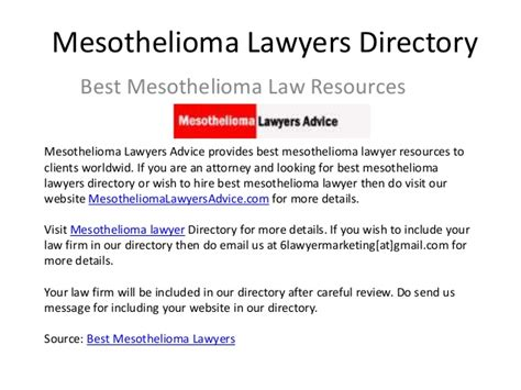mesothelioma lawyer directory mesotheliomalawyersadvice - Mesothelioma Lawyer Directory