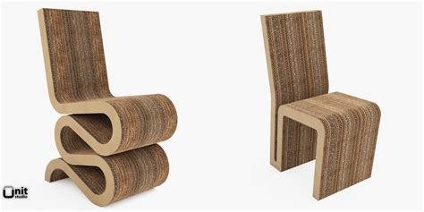 Ghery Chair - wiggle and side chair by frank o gehry 3d model max obj
