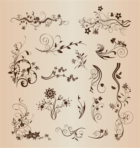 decorative design elements vector retro design floral decorative elements vector set free