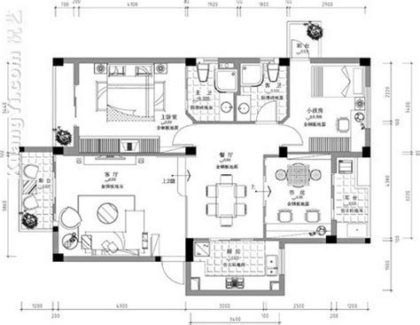 plan flat interior design drawings