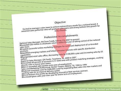 Results Oriented Resume by Results Oriented Resume Resume Ideas