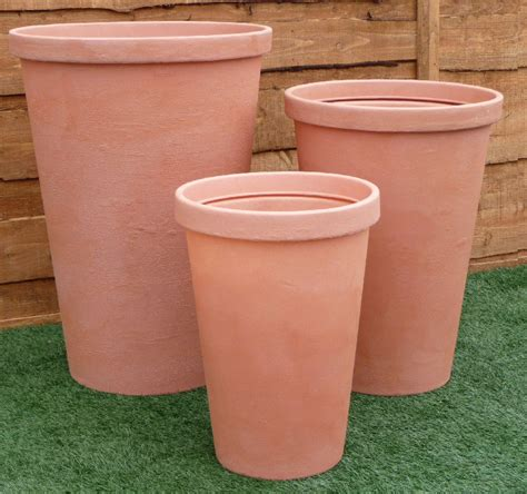 Big Plastic Planters by Tapered Plastic Pots