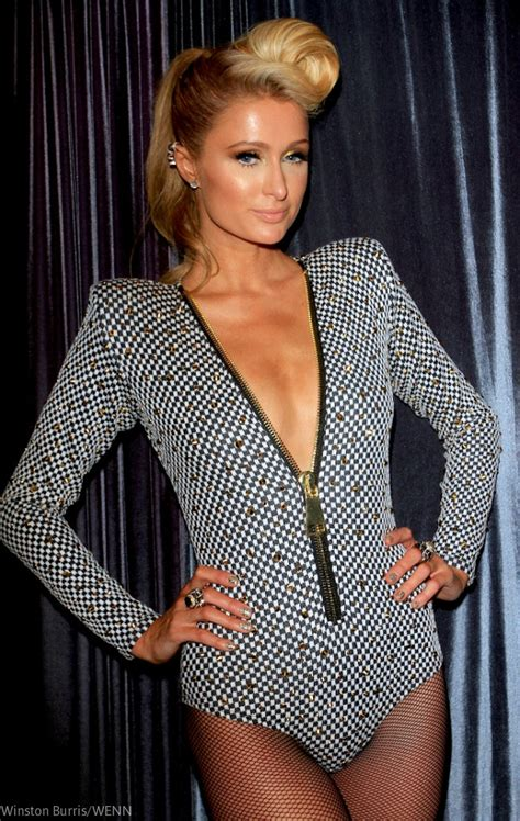 paris hilton ditched underwear  diddys pre grammy party