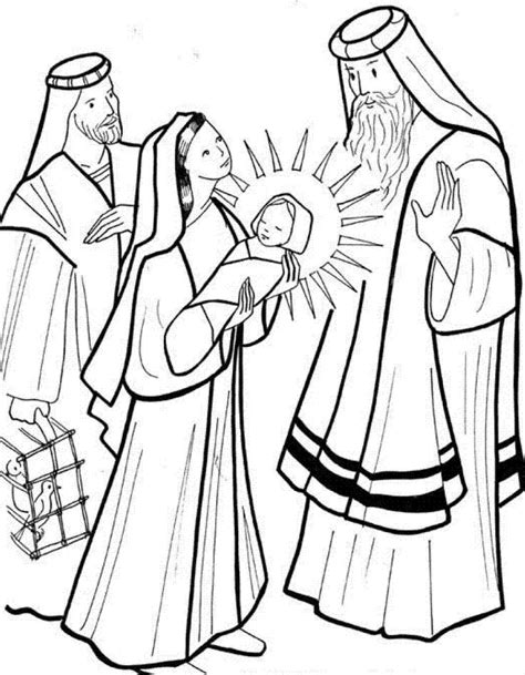 baby jesus presented at the temple coloring pages 17 best images about bible nt jesus in the temple on