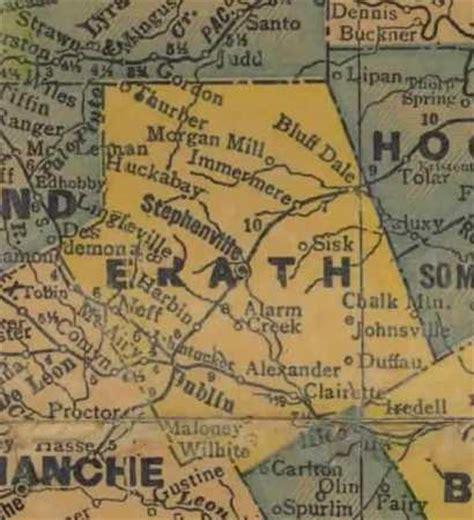 erath county texas map erath county texas