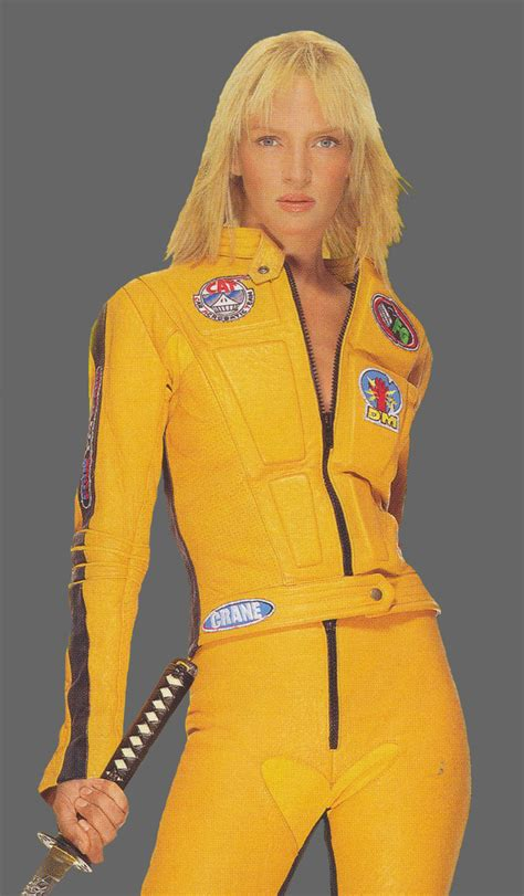 kill bill uma thurman and the bride on pinterest yellow outfit with red hair cosplay com