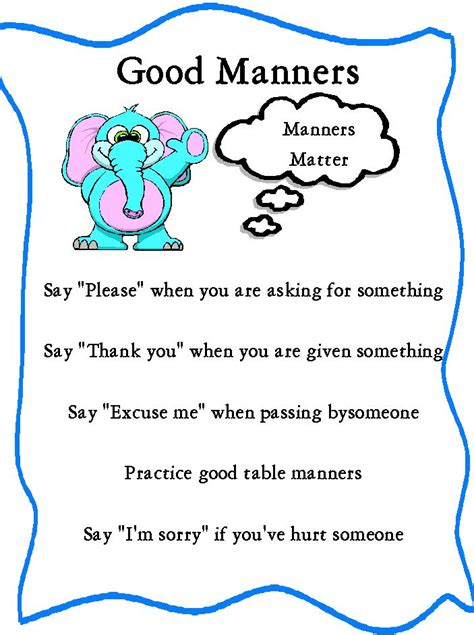 Important Aspects About Table Manners by Best 25 Manners Preschool Ideas On Baby