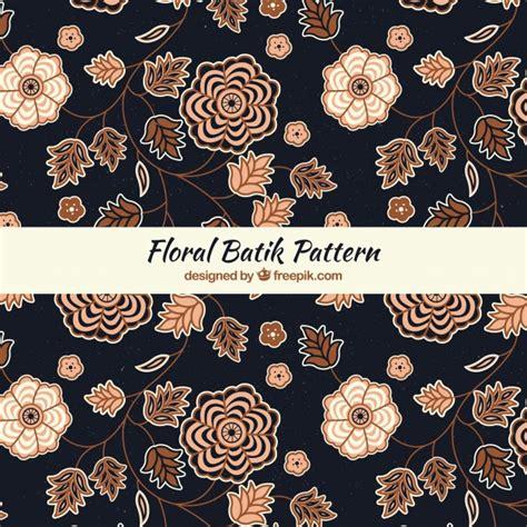 pattern batik elegant elegant floral batik pattern vector free download