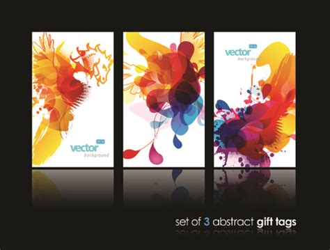 Gift Name Card Design - abstract gift tags cards design vector graphic 03 vector card free download