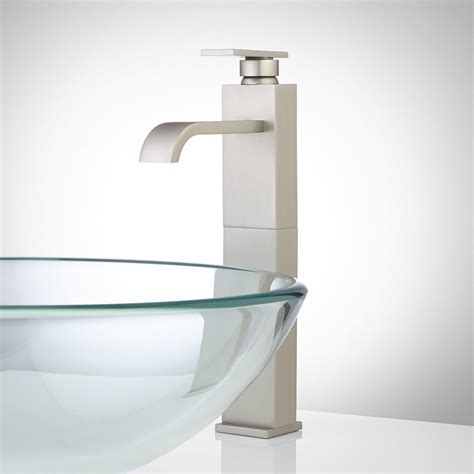 abell waterfall vessel faucet with pop up drain bathroom