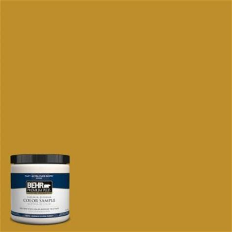 behr premium plus 8 oz 360d 7 brown mustard interior exterior paint sle 360d 7pp the home
