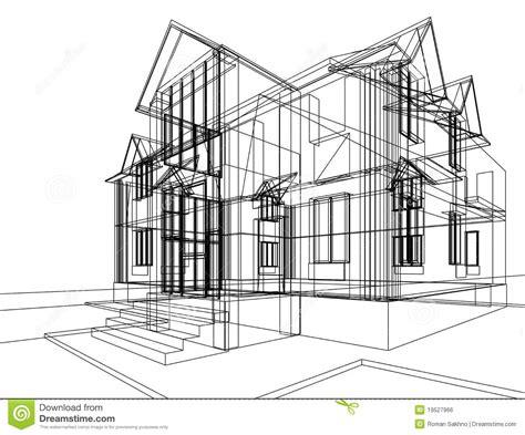 House construction sketch stock illustration. Illustration