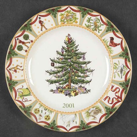 spode christmas tree green trim pattern spode christmas tree green trim 2001 collector plate