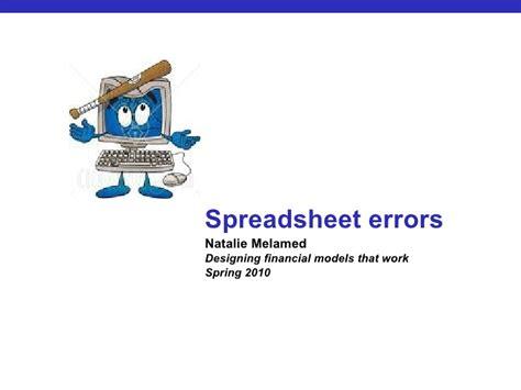 Spreadsheet Errors by Spreadsheet Errors