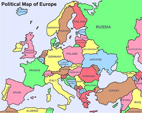 map of europe countries europe political map with capitals thefreebiedepot