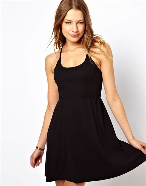 Summer Dress Silang Belakang Back Cross american apparel cross back summer dress in black lyst
