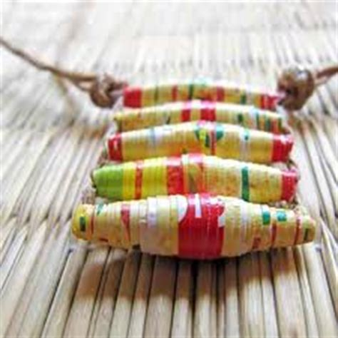 Paper Crafts For Seniors - a paper bead necklace crafts for seniors