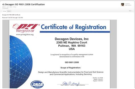 design management certificate iso 9001 certification for the teampage quality management