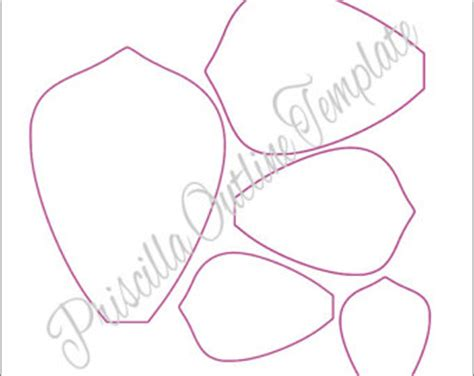 diy flower template printable flower templates diy paper flowers pdf