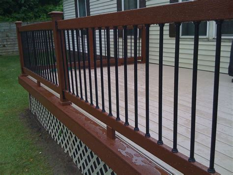 Metal Deck Spindles Metal Balusters For Deck Railings Autumnwoodconstruction