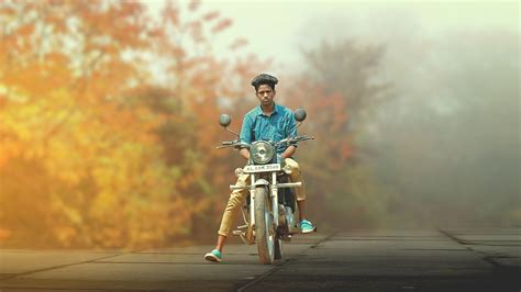 tutorial photoshop cs3 blur background the rider auntumn soft light and blur background