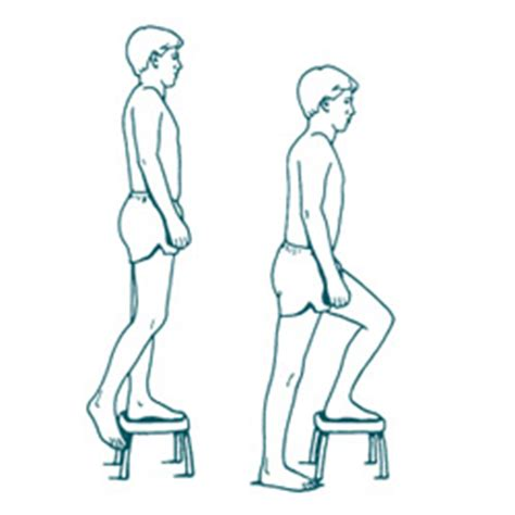 bench step up exercise lumbar activities booklet strengthening exercises