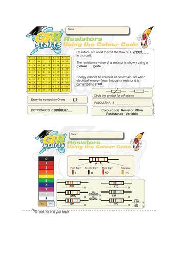 resistor code lesson lesson on resistors by jjthetutor teaching resources tes
