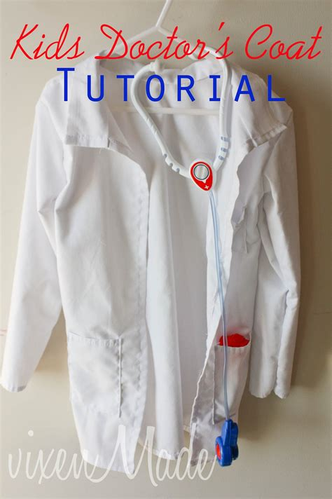 pattern for childrens lab coat kids doctor s coat tutorial vixenmade parties