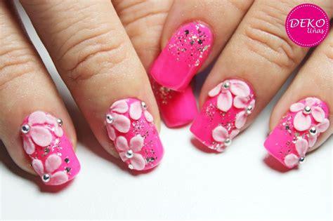imagenes de uñas acrilicas con flores 3d decoraci 243 n de u 241 as flores 3d en acr 237 lico deko u 209 as