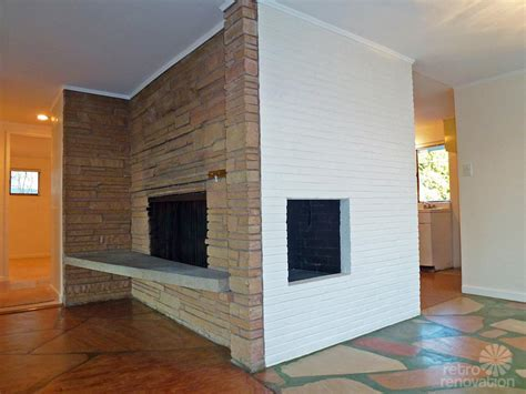 mid century fireplace 1955 mid century modern house time capsule just 1 300 s