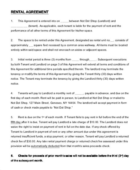 Agreement Letter For Shop Rent 14 Simple Rental Agreement Templates Free Sle Exle Format Free Premium