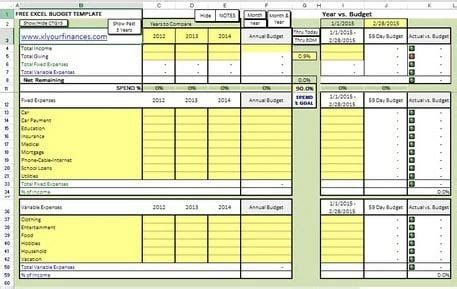 excel spreadsheet template for keeping track of credit card 10 free household budget spreadsheets for 2018