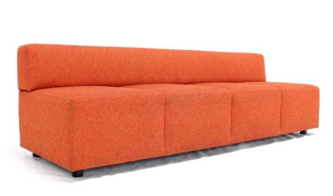 steelcase upholstery orange upholstery steelcase sofa booth for sale at 1stdibs