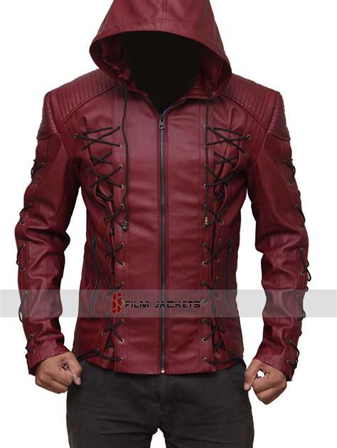 Jaket Hoodie Arsenal 6 arrow arsenal jacket hooded leather jacket