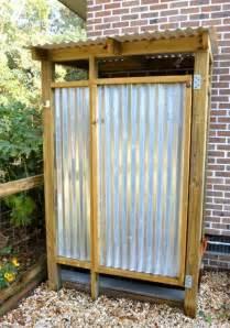 top 25 best outdoor shower enclosure ideas on