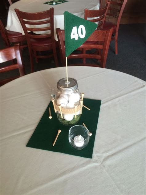Golf Theme Centerpieces For 40th Birthday Party Tees Golf Centerpieces Ideas