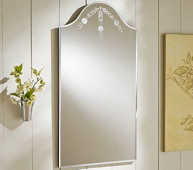etched bathroom mirror daisy etched mirror pottery barn kids