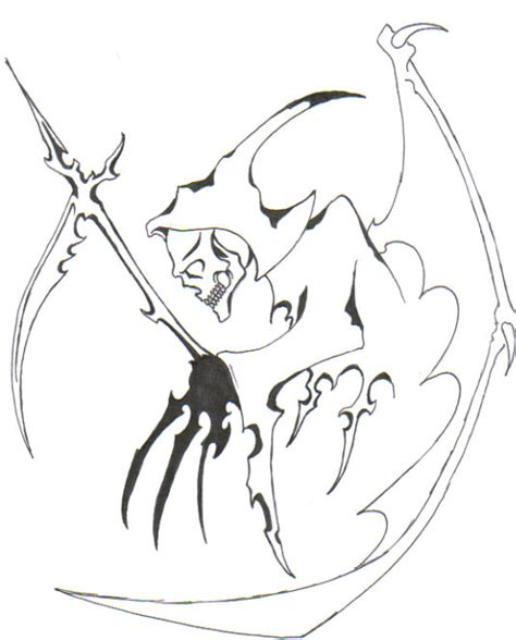 tribal reaper tattoo designs grim reaper images designs