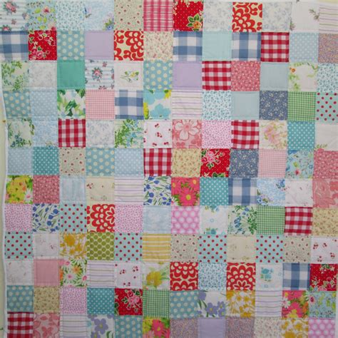 Patchwork For Babies - baby quilt vintage modern patchwork baby quilt