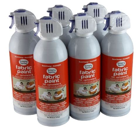simply spray upholstery fabric spray paint 6 pack burnt