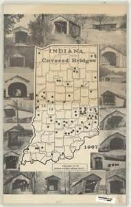 covered bridges of indiana map 1967 indiana covered