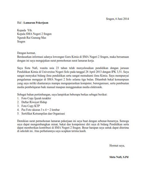 contoh surat lamaran kerja lulusan smk otomotif informasi lowongan kerja smk sma terbaru contoh surat