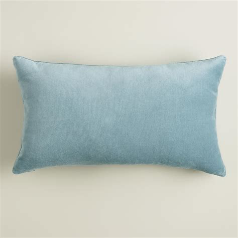 Blue Lumbar Pillow by Steel Blue Velvet Lumbar Pillow World Market