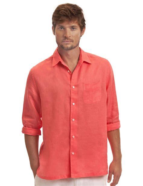 Linen Shirt s coral linen shirt coral classic linen shirt