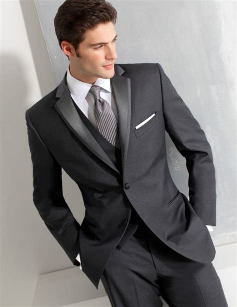 tux or suit for wedding ike behar gray slim fit tuxedo style 690 black tie