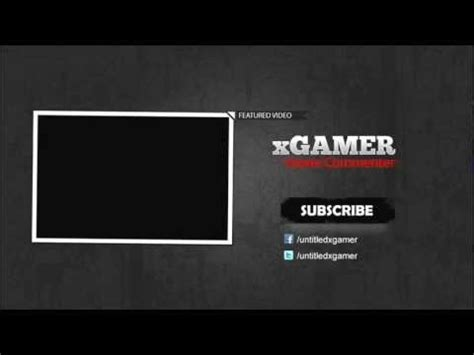 Xgamer2 End Screen Outro Psd Youtube End Screen Template
