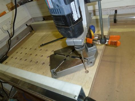 drilling bench dog holes drilling holes and bench dogs general woodworking
